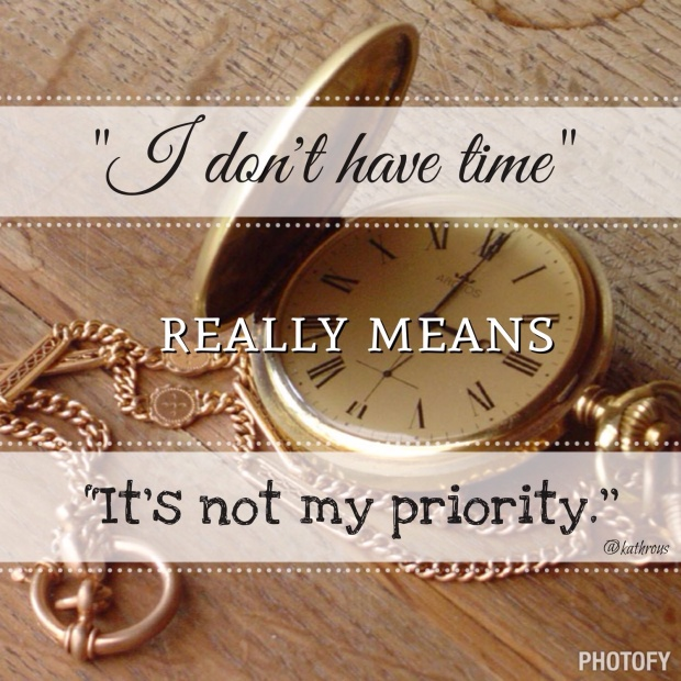 Its not my priority