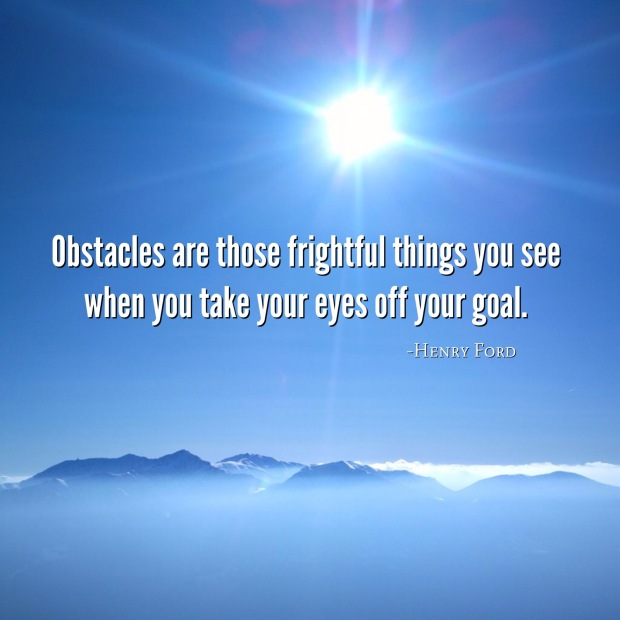 keep your eyes on your goal