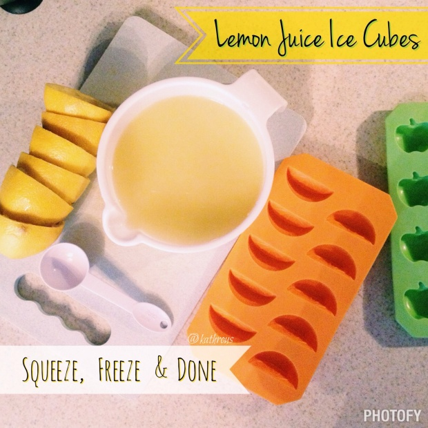 Lemon Juice Ice Cubes