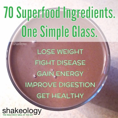 Shakeology 70 ingredients
