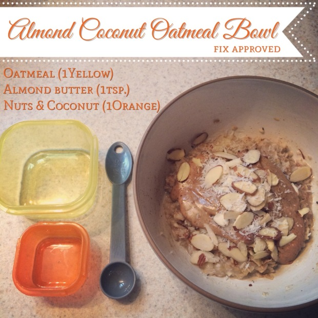 Almond Coconut Oatmeal Bowl