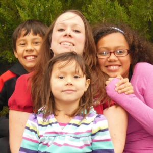 Rachael and her kids