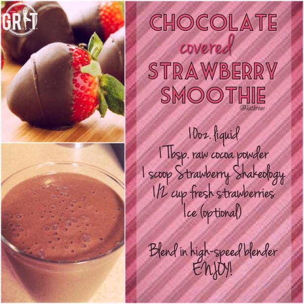 Chocolate covered Strawberry Shakeology