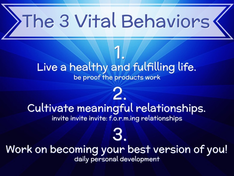 The 3 Vital Behaviors